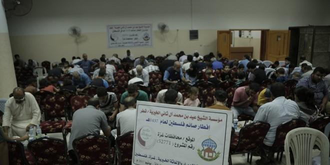 وزعت جمعية الاعمار والاغاثة الخيرية 2000 وجبة افطار